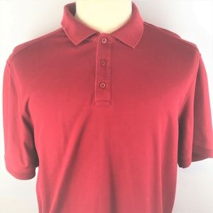 Nordstrom Mens Red Short Sleeve Polo Shirt Large